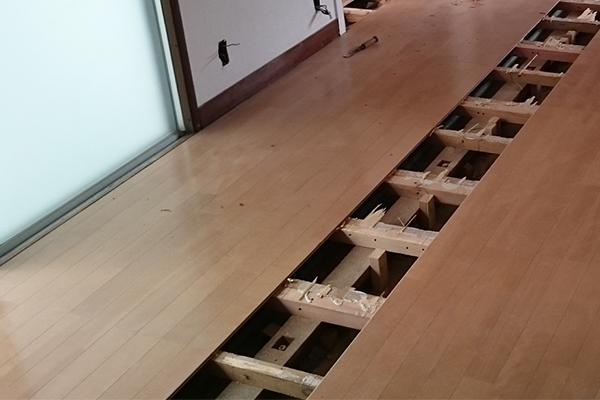 床の腐食が進んでしまう