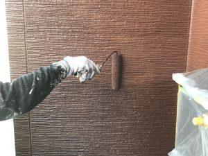 【外壁塗装工事】上塗り
