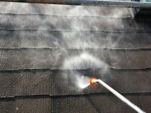 【屋根塗装工事】高圧洗浄
