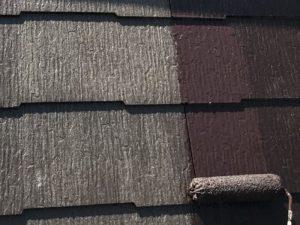 【屋根塗装工事】中塗り
