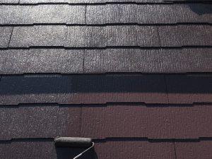 【屋根塗装工事】上塗り