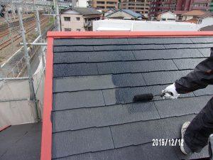 【屋根塗装】上塗り(1回目)
