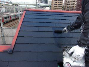 【屋根塗装】上塗り(2回目)