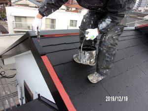 【屋根板金水切り塗装】上塗り