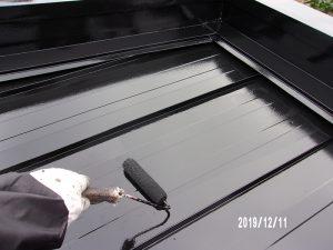 【倉庫屋根塗装】上塗り(2回目)