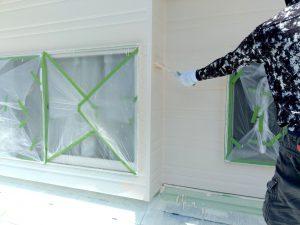 【外壁塗装】上塗り2回目