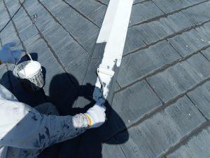 【屋根水切り塗装】下塗り