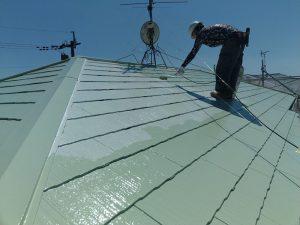 【屋根塗装】上塗り1回目