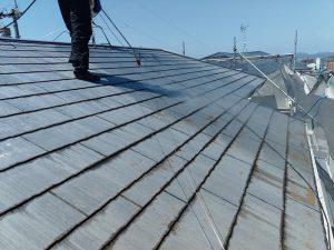【屋根塗装】高圧洗浄