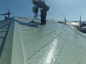 【屋根塗装】上塗り2回目