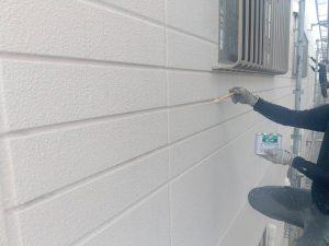 北面外壁シーリングプライマー塗布