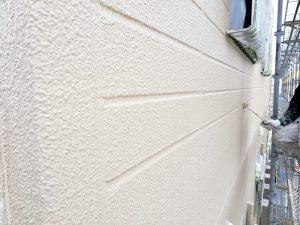 北面外壁上塗り