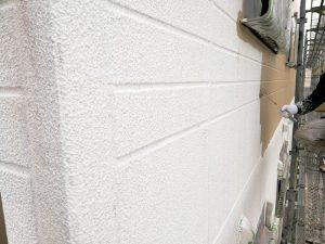 北面外壁中塗り