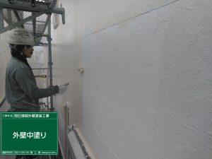 【外壁中塗り】北九州市八幡西区O様邸